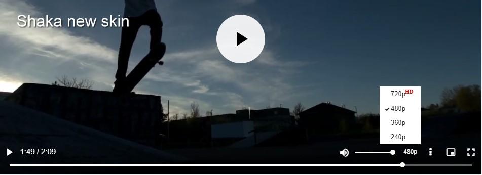 Videojs Shaka Skin